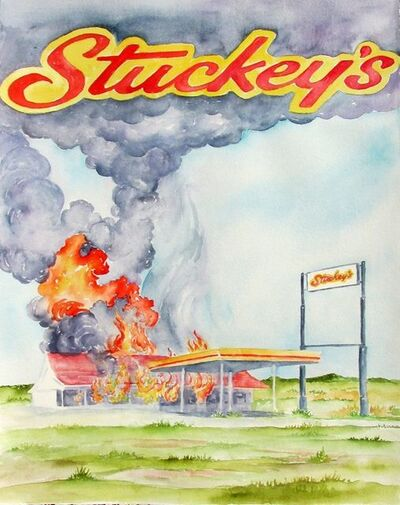 Scott Winterrowd, 'Stuckey's on Fire, Tucumcari, NM', 2016