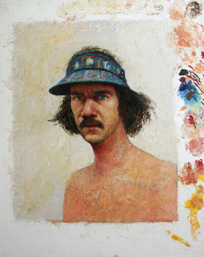 Gregory Gillespie, 'Self-Portrait with Blue Visor', 1979