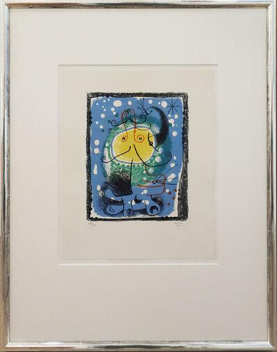 Joan Miró, 'Personnage sur fond bleu', 1957