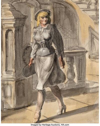 Reginald Marsh, 'Woman Walking', 1946