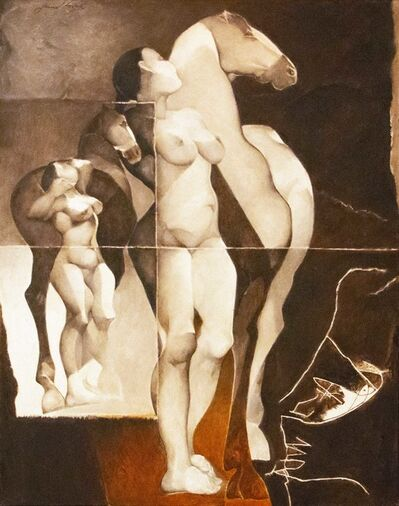 Jamil Naqsh, 'Nude with Horse II', 2007