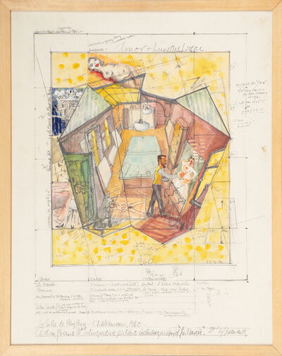 Anthony Green, '2nd Working Drawing for La Salle de Ping-Pong', 1985-86