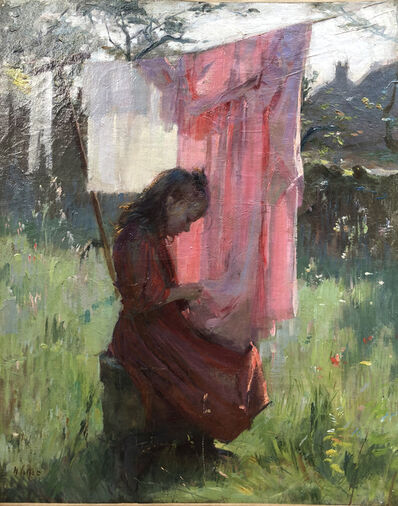 Henry Vollet, 'Fille en Bretagne', 1880-1890