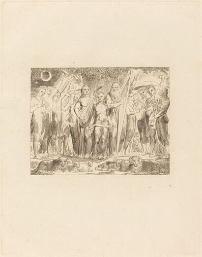 William Blake (1757-1827), 'Job and His Family Restored to Prosperity', 1825