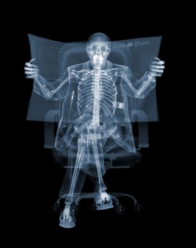 Nick Veasey, 'Newspaper Man', 2008