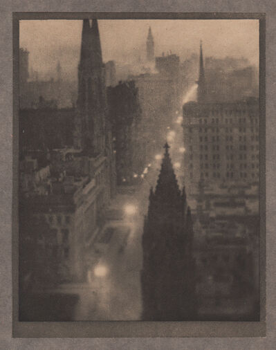 Alvin Langdon Coburn, 'Fifth Avenue, From the St. Regis', Neg. date: 1909 c. / Print date:1909