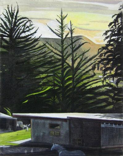 Alexander Rohrig, 'Cypresses at Dusk'