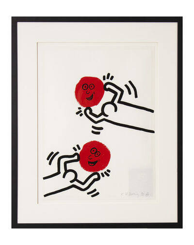 Keith Haring, 'The Story of Red and Blue XI', 1989