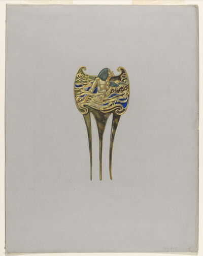 Eugène Samuel Grasset, 'Design for a Nymph Comb', ca. 1900