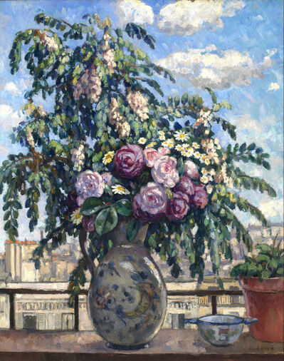 Albert André, 'The Bouquet (View from the Artist's Studio, Paris)', ca. 1900