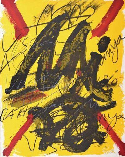 Antoni Tàpies, 'L'émerveille Merveilleux, Hommage Joan Mirò', 1973