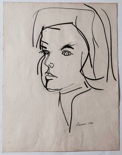 Fay Lansner, 'Untitled (Portrait)', 1961