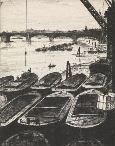 Christopher Richard Wynne Nevinson, 'The Pool of London', ca. 1920