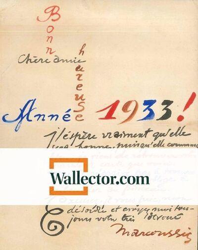 Louis Marcoussis, 'Bonne Année', 1932-1933