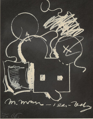 Claes Oldenburg, 'M.Mouse (With) 1 Ear (Equals) Tea Bag Blackboard Version (1965)', 1973