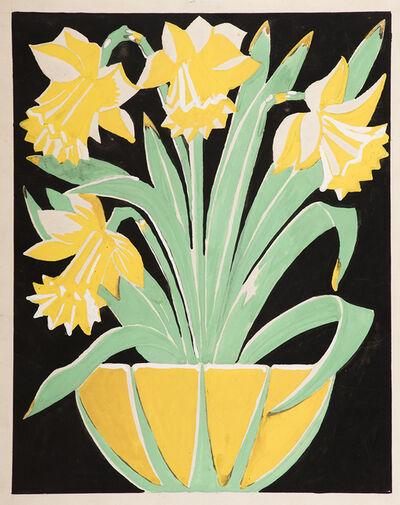 Karl Hagedorn, 'Bowl of daffodils', 1925