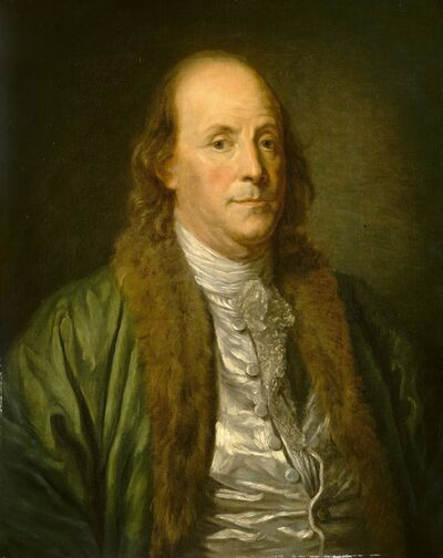 after Jean-Baptiste Greuze, 'Benjamin Franklin', 19th century