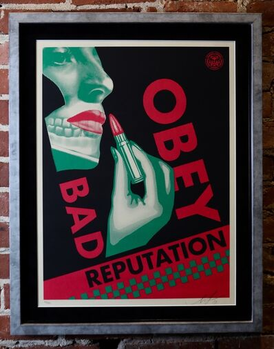 Shepard Fairey, 'Bad Reputation (Black)', 2019