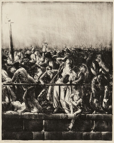 George Wesley Bellows, 'The Crowd, from Men Like Gods', 1923