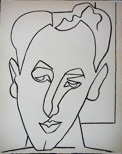 Françoise Gilot, 'Portrait Head of a Man', 1950-1959