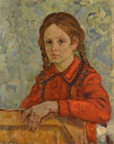 Aleksey Ivanovich Borodin, 'Girl in red', 1973