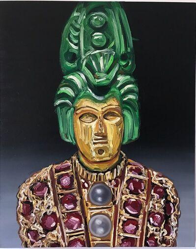 Kajahl, 'Expression Hybrid Portrait I (yellow face, green hair)', 2017