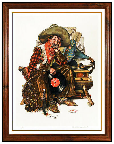 Norman Rockwell, 'Norman Rockwell Saturday Evening Post Hand Signed Lithograph Dreams Of Long Ago', 1970-1989