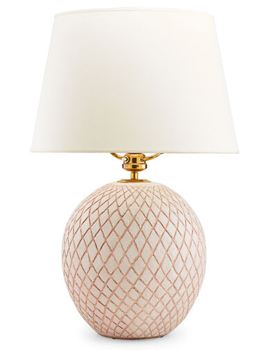 Jean Besnard, 'Large table lamp with crosshatch pattern, France'