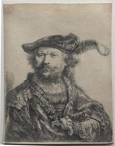 Rembrandt van Rijn, 'Self-portrait in a velvet cap with plume', 1638