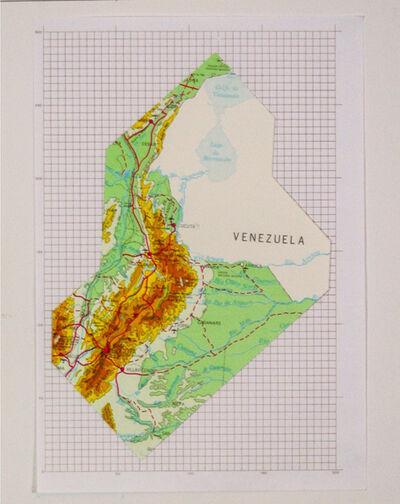 Iván Hurtado, 'Mapa monumento + Cuadriculado', 2015