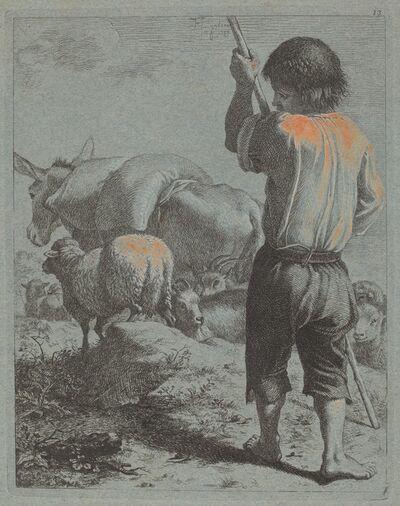 Francesco Londonio, 'Shepherd with Donkey, Sheep and Goat', 1759