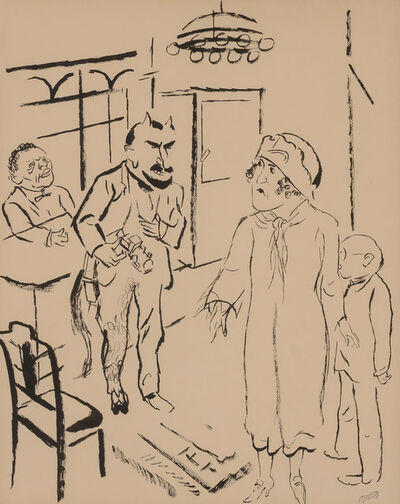 George Grosz, 'Kobes und Dame ins Allerheiligiste Vorgedrungen (Kobes and a lady reach the inner sanctum)'
