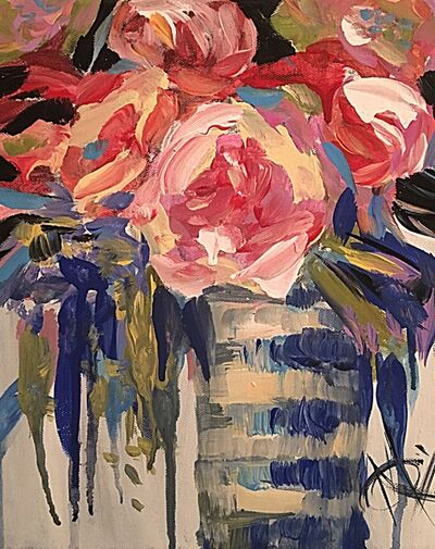 Mariam Qureshi, 'Vase of roses ', 2017