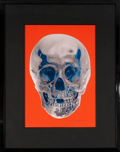 Damien Hirst, ''Till Death Do Us Part, Skull, Red/Silver', 2012