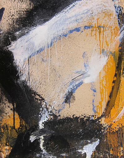 Norman Bluhm, 'Untitled (Yellow, White, and Black)', 1961