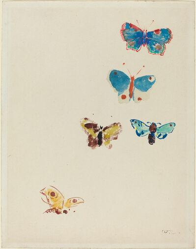 Odilon Redon, 'Five Butterflies', ca. 1912