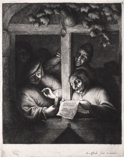 Adriaen van Ostade, 'The Singers (4th State)', 1667