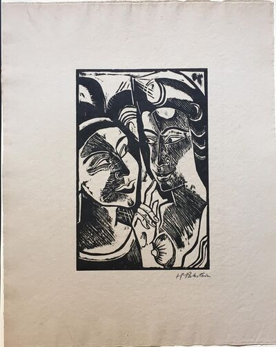 Max Pechstein, 'Zwiesprache', 1918