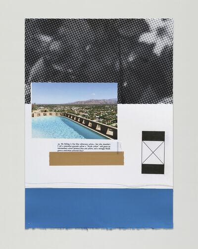 Julião Sarmento, '39. Palm Springs Flowers Blue', 2017