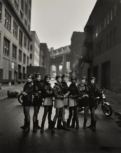 Peter Lindbergh, 'The Wild Ones: Cindy Crawford, Tatjana Patitz, Helena Christensen, Linda Evangelista, Claudia Schifer, Naomi Campbell, Karen Mulder, and Stephanie Seymour, Brooklyn, American Vogue, May 1991', 1991