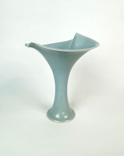 Shinobu Kawase 川瀬忍, 'Celadon Vase with Flared Rim', N/A