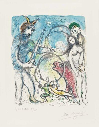 Marc Chagall, 'A la Femme, Qu'est-il rest..., from Sur La Terre Des Dieux', 1967