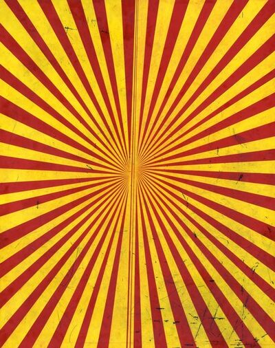 Mark Grotjahn, 'Untitled (Crimson Red and Canary Yellow Butterfly 797)', 2009