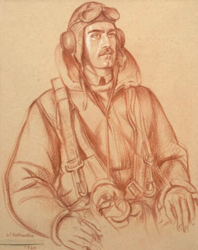 William Rothenstein, 'A Sergeant from the Royal Air Force', ca. 1940