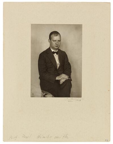 August Sander, 'Der Komponist (Paul Hindemith)', 1926