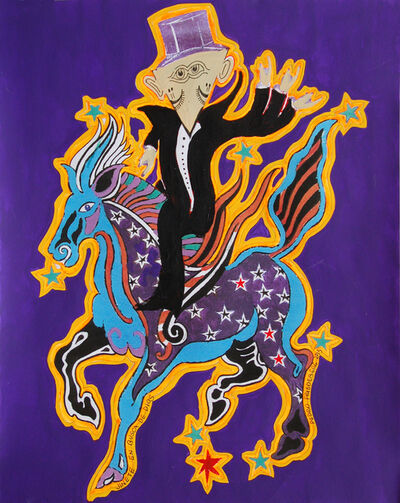 Pedro Friedeberg, 'Jinete en busca de dios', 2015