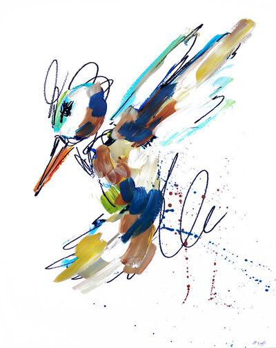 Ash Almonte, 'Blue Tan and Golden Hummingbird', 2019