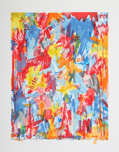 Jasper Johns, ''False Start I'', 1962