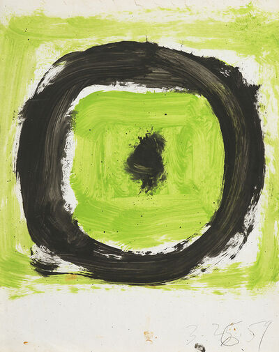 Walter Darby Bannard, 'Untitled (Black Circle on Green)', 1959