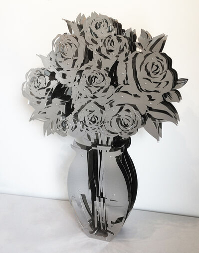 Michael Kalish, 'Vase of Roses - Mirrored Stainless 42', 2018